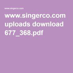 manual for Singer 368
