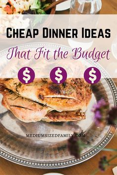 Cheap dinner ideas that fit the budget. Looking for great tasting cheap meals that help you keep your grocery budget low? Here's a list of ideas plus ideas for making cheap meals even cheaper. - May 25 2019 at Inexpensive Meals, Cheap Dinners, Cooking For A Crowd, Cooking On A Budget, Frugal Meals, Budget Meals, Frugal Recipes, Food Budget, Groceries Budget