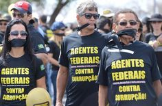 Federal agents protest against corruption on the 7th of September/13. Brazil