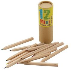 Pocket Money Collection - Mini 12 Colored Pencils 5.99 Art kids gift stocking stuffer easter basket