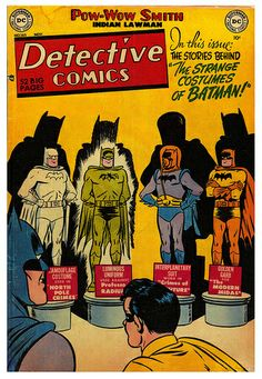 The Strange Costumes of Batman  1950's era batman was stranger and more subversive than anything Wertham ever laid eyes on.  Get the reprints.