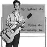 """Woody Guthrie wasn't a teacher, but by example he taught many a young musician what a powerful vehicle music can be for social, political, and personal change. Carrying on that tradition, as this playlist shows, are three of Woody's most accomplished """"students"""" -- Bob Dylan, Bruce Springsteen, and John Mellencamp."""
