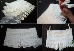 Tutorial lace shorts