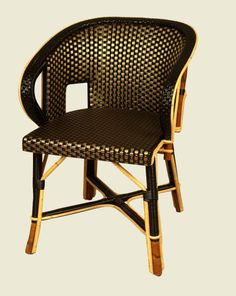 Grenelle armchair gold and black by François Champsaur.