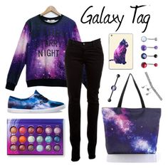 """""""Galaxy Tag"""" by ticci-toby ❤ liked on Polyvore featuring J Brand, Wet Seal, Vans, Casetify, women's clothing, women's fashion, women, female, woman and misses"""