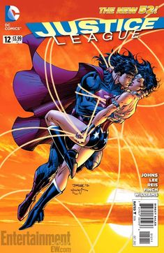 Justice League #12 cover with Superman and Wonder Woman/Search//Home/ Comic Art Community GALLERY OF COMIC ART