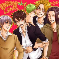 Tags: Anime, Pixiv Id 417981, Beelzebub, Toujou Hidetora, Oga Tatsumi, Natsume Shintarou, Furuichi Takayuki