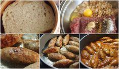 Σουτζουκάκια σμυρνέϊκα Greek Recipes, Main Meals, Sausage, French Toast, Meat, Cooking, Breakfast, Food, Kitchen
