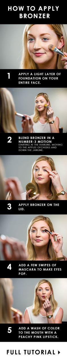 How to apply bronzer like a pro