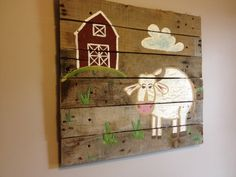 Cow 14x14 Rustic Wall Art on Woodbarn by RusticTreeHouse on Etsy, $58.00