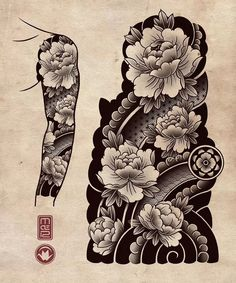 old school frases japoneses tattoo Japanese Tiger Tattoo, Japanese Flower Tattoo, Japanese Tattoo Designs, Japanese Sleeve Tattoos, Japan Tattoo Design, Geisha Tattoo Design, Tatuajes Irezumi, Irezumi Tattoos, Flower Tattoo Drawings