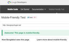Google dá destaque a sites mobile.