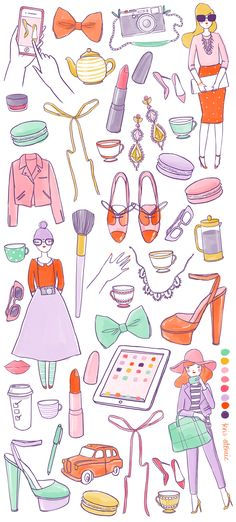 Beautiful illustration by Kris Atomic features on her lovely blog!