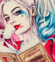 Immagine di harley quinn, suicide squad, and art