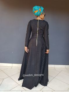Black Dresses @nedim_designs on Instagram  or +27829652653 African Maxi Dresses, Ankara Dress Styles, African Attire, African Wear, Red Black Dress, African Design, Little Dresses, Maxis, Decking