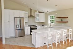 Bailey's Cabinets, Haas Lifestyle Collection, Maple, White finish, Hometown door style Maple Cabinets, White Cabinets, Kitchen Cabinetry, Baileys, Kitchens, Small Homes, Lifestyle, Table, Inspiration