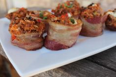 Bacon Wrapped Primal Pizza Muffin #TheCafeWellness