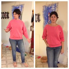 Knit Nat: Quick Craft! -- How to Undorkify a Sweatshirt