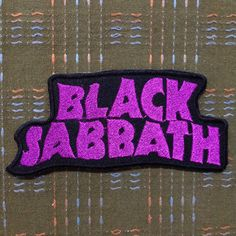"""BLACK SABBATH,Rock band, embroidered Iron on music band patch, band patch jeans ,jackets, clothing applique 