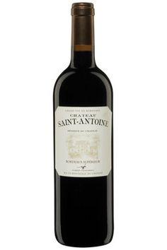 Château Saint-Antoine, Bordeaux Supérieur. Aromatique et souple. Aubert vignobles. 65% merlot, 35% Cabernet-franc.