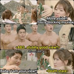 Lol.... Song hye kyo so true // Descendants of the Sun #korean #drama More