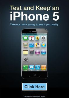 want to test and keep new iphone5? click here! #newiphone5 #iphone5