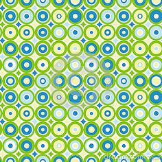(C) Celia Ascenso - Concentric retro circles.Seamless Tile.Other color combinations may be used, just ask with the colors needed.