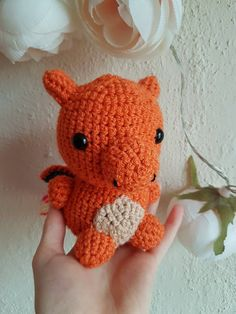 New Handmade Crocheted Charizard Pokemon Orange Dragon Stuffed Toy Pokemon Amigurumi Charmander Charmeleon Charizard Knitted Toy Kid's Toy by KnitAndPurlDesigns on Etsy