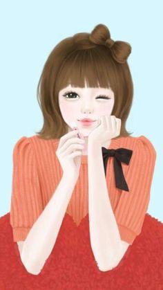 Girl Boards Korean Art Asian Doll Oriental Disneyo Kitty