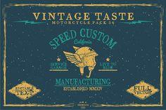 80% OFF - Vintage Badges BUNDLE by inumoccatype on Creative Market