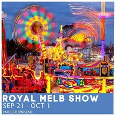 Tag your Royal Melbourne Show buddies! . This year's All New Royal Melbourne Show will be a show like no other! . Experience the joy at the animal nursery award-winning food and drink precincts a new entertainment program and the newest and most exciting rides and showbags. . Melbourne Showgrounds: Sep 21 - Oct 1 Oct 1, Animal Nursery, Melbourne, Entertainment, Joy, Drink, Tags, Movie Posters, Animals