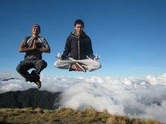Yoga above the clouds by niknokniknoknik, via Flickr