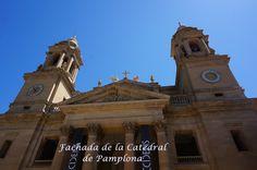 Fachada de la Catedral de Pamplona. http://undetallediferente.blogspot.com.es/2013/10/pamplona-blogger-traveller-octubre.html