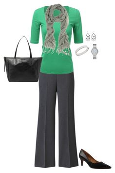 Plus Size Work Outfit by jmc6115 on Polyvore featuring Kay Unger New York, Michael Kors, Anne Klein, WorkWear and plussize