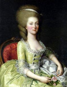 Louise-Henriette Steinman Boeuf de Curis (b. 1760), c. 1780 by Adolph Ulrich Wertmuller