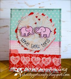 Christy Gets Crafty | using Lawn Fawn's Love You Tons - Lawnscaping Challenge #75  - #polka dots and #hearts