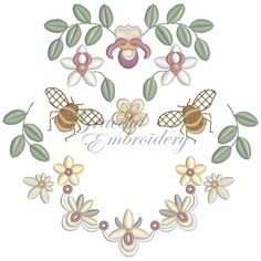 Collection of heirloom embroidery designs