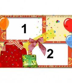 Tarjeta de cumpleaños con marco de fotos rojo, globos y pasteles para - Fotoefectos Birthday Frames, Happy Birthday Pictures, Borders And Frames, Gift Wrapping, Holiday Decor, Gifts, Angel, Pink, Happy Birthday Text