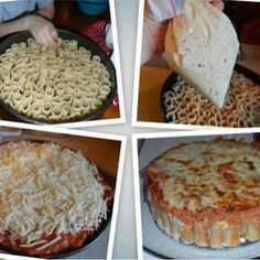 Rigatoni Pasta Pie - I am trying this tonight...but I am not taking the time to stand up the rigatoni...maybe next time?