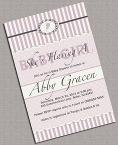 DIY Printable Baby Shower Invite  Girl Baby by alittletreasure, $15.00