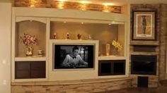 built in media center dry wall - Google Search