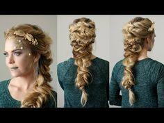 Twisted Mermaid Braid | Halloween Hair Tutorial - YouTube