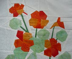 foundation pieced nasturtium (3) by silort, via Flickr