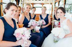Charleston Weddings -  Patriots Point - @sgsocialevents - Jamie Clayton - @wildflowersinc - @absolutelychas - Navy & White - Lowcountry