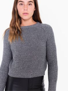 Cropped Fisherman Pullover $38 with promo code KNITS