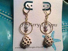 Beautiful Hawaiian Drupa Shell Earrings by FlatteryDesigns on Etsy, $28.00