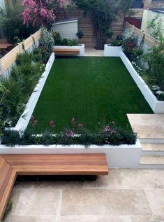 Modern garden design ideas fulham chelsea battersea clapham dulwich london - garden with style Small Courtyard Gardens, Small Courtyards, Back Gardens, Small Gardens, Formal Gardens, Terrace Garden, Courtyard Design, Garden Spaces, Gravel Garden