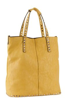 STUDS DECO HANDLES & BOTTOM LINE SHOPPER BAG City Bag, Shopper Bag, Madewell, Studs, Deco, Bags, Accessories, Fashion, Handbags