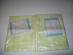 """2 Sheer Celery Green Panel Curtain 40"""" by 81"""" each Aldens Pair Set Polyester #aldens #Contemporary"""