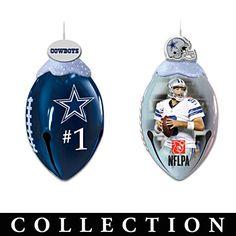NFL-Licensed Dallas Cowboys Jingle Bell Ornaments